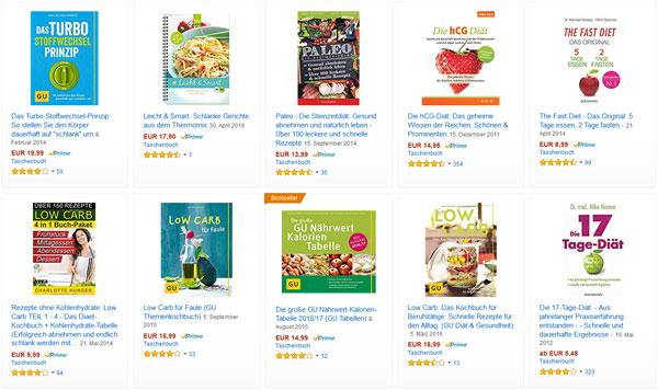 Ratgeber Bücher zum Thema Abnehmen & Diät