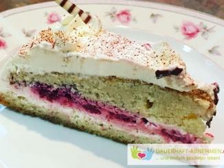 Low Carb Mandel Himbeer Kuchen