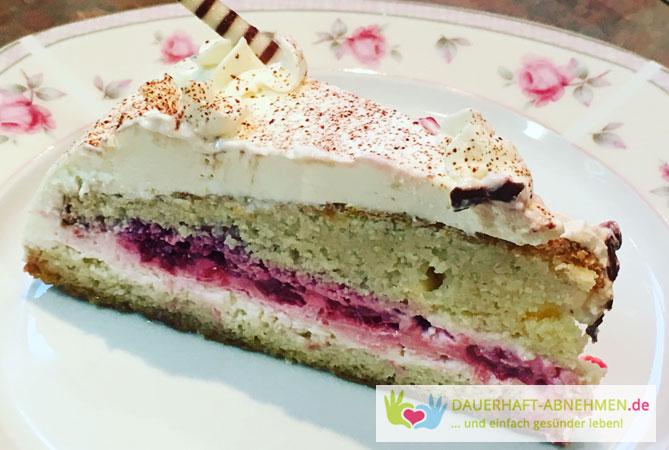 Rezept Low Carb Mandel Himbeer Kuchen
