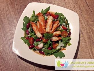 Rucola-Salat mit Hähnchen