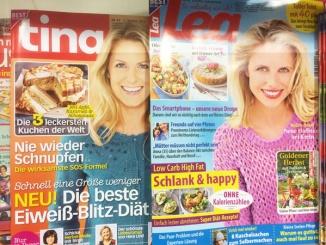 """Tina & Lea Zeitschriften mit """"Abnehmen""""-Artikeln als Aufhänger"""