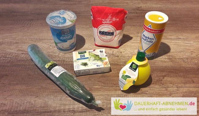 Zutaten Gurkensalat