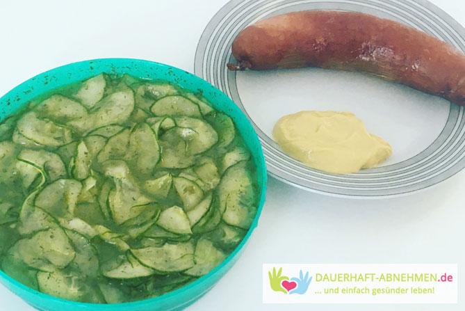 Gurkensalat mit Cabanossi