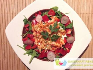 Rucola-Salat mit Krabben