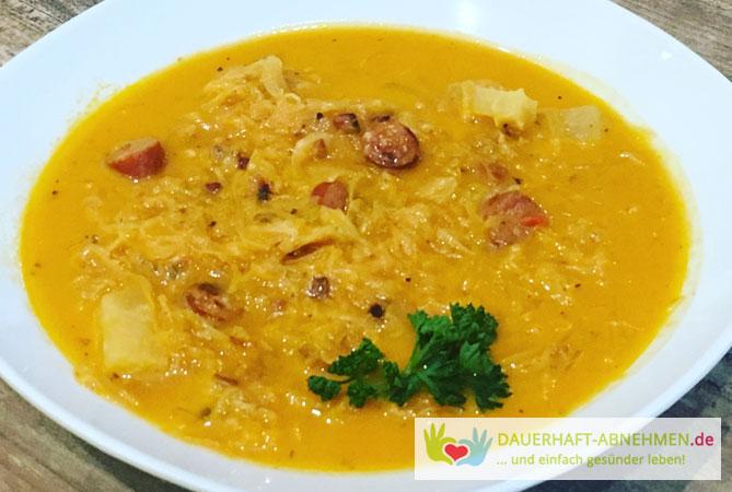 suppe zum abnehmen rezept, rezept: sauerkraut-suppe mit debrecziner würstchen, Design ideen