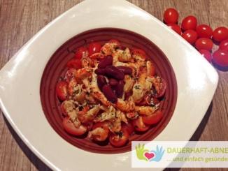Flusskrebse und Tomaten