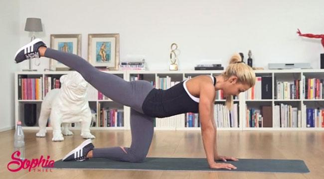 Workout mit Sophia Thiel