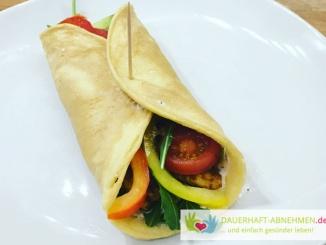 Low Carb Wrap mit Salat