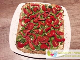 Pizza mit Thunfischboden