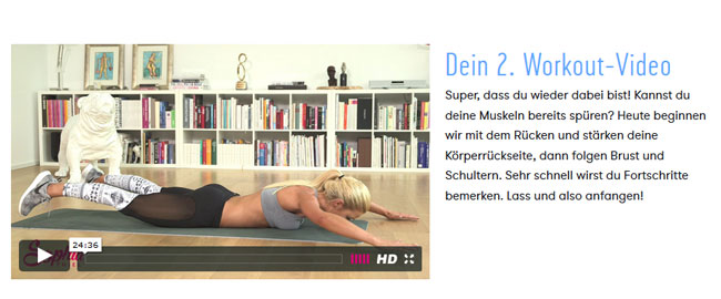 Zweites Workout mit Sophia Thiel