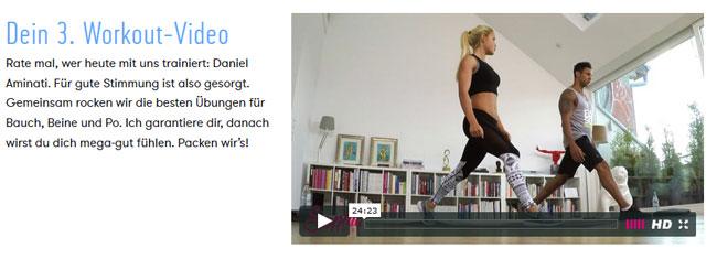Sophia Thiel drittes Workout mit Daniel Aminati