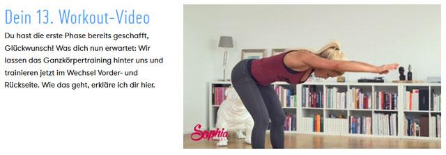 Workout aus Phase 2 mit Sophia Thiel