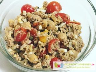 Thunfisch-Salat mit Kichererbsen
