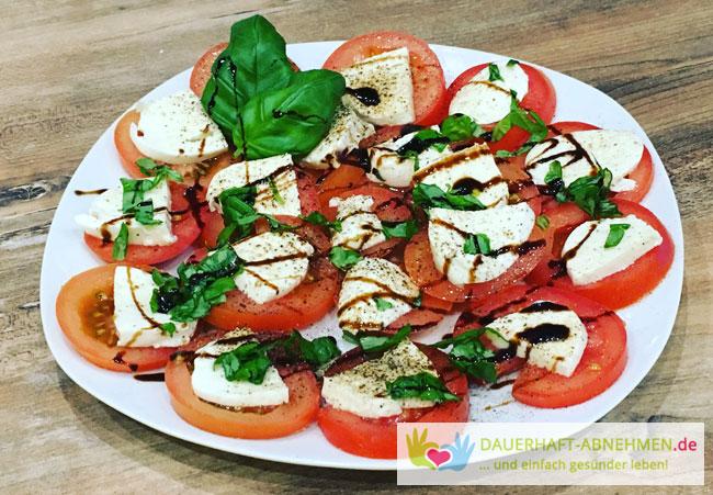 tomate mozzarella diät