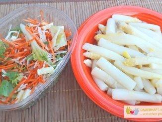 Salat und Spargel