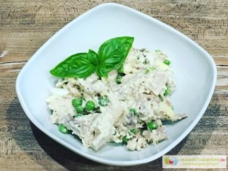 Geflügelsalat mit leichter Mayonnaise (Low Carb)