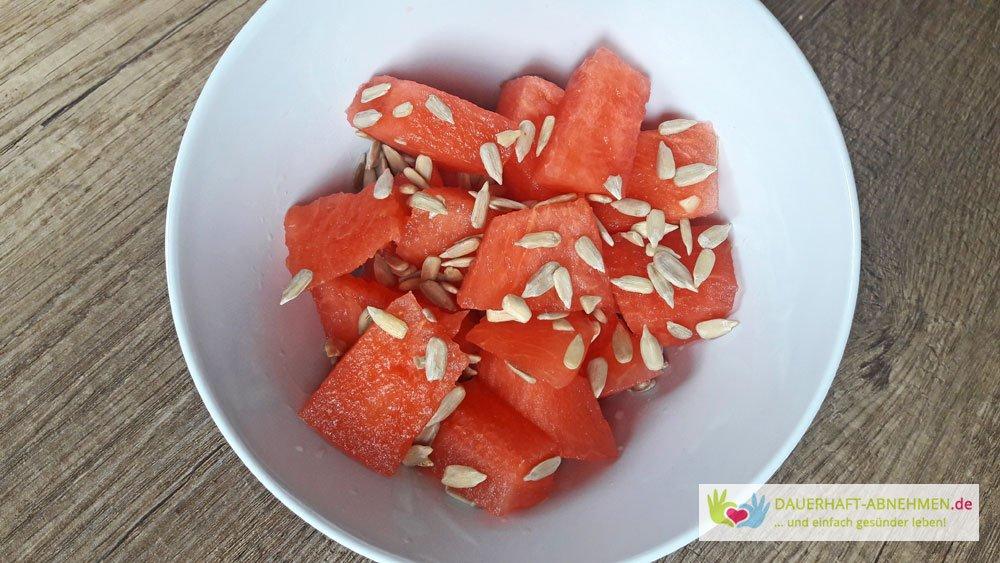 Tag 256 Wassermelone Brotchen Vom Backer Und Salat