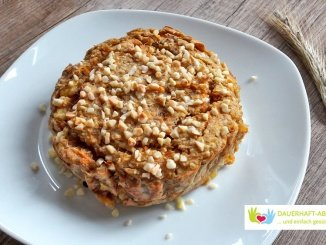 Gebackener Haferbrei á la Karottenkuchen