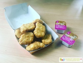 Mc Donalds Nuggets mit Currysauce