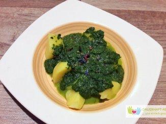Kartoffeln und Spinat