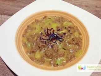 Zucchini-Hackfleisch-Suppe