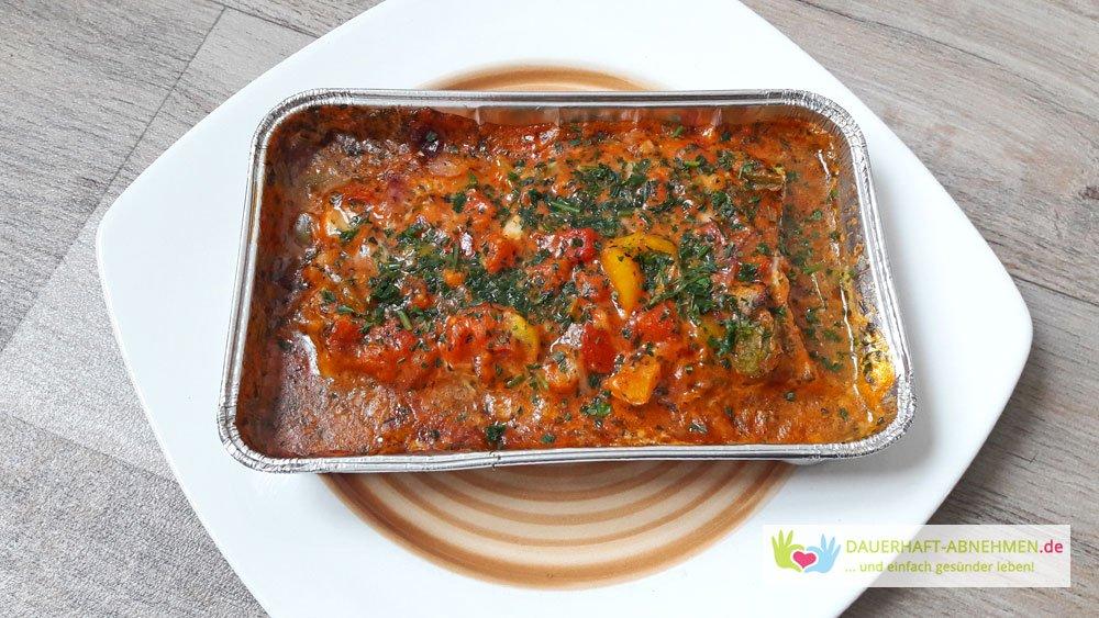Fisch mit Gemüsesoße
