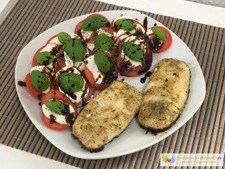 Fisch mit Tomate Mozzarella