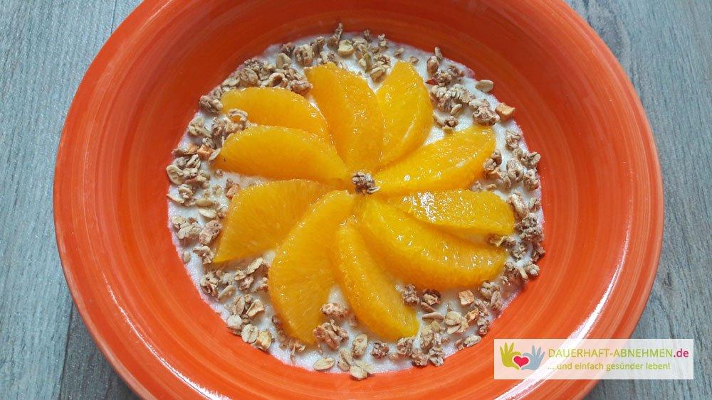 Grießbrei mit Orangen
