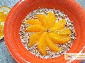 Grießbrei mit Orangenfilets