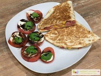 Pizzachiladas mit Tomate Mozzarella