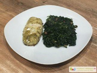 Spinat mit Fisch