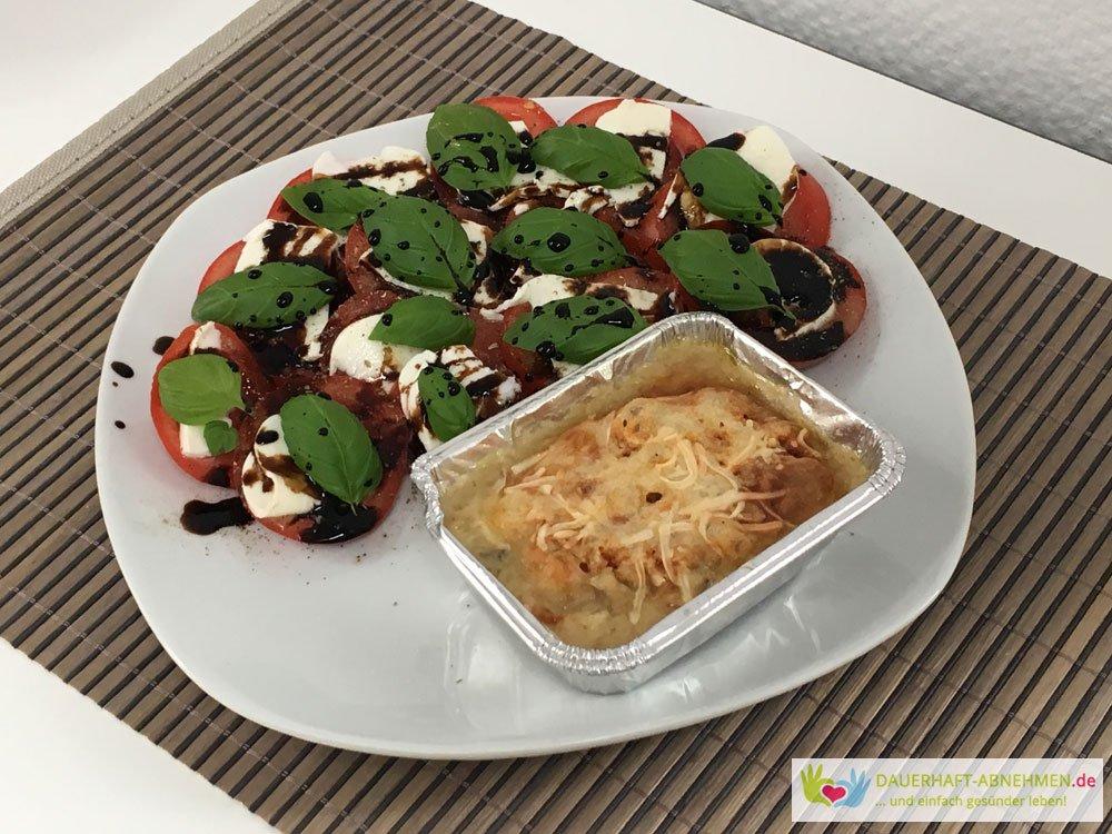 Würzfleisch mit Tomate Mozzarella