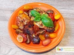 Grillfleisch Und Tomaten