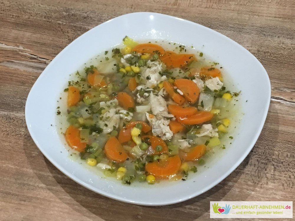 Hühnersuppe mit Gemüse