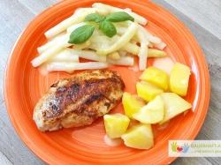 Kartoffeln, Spargel Und Hähnchenbrust