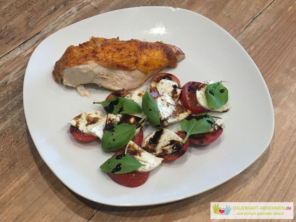 Tomate Mozzarella mit Hühnchenbrust